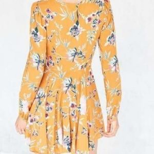 Urban Outfitters Dresses - Ecote Rosalinda Floral Long Sleeve Dress